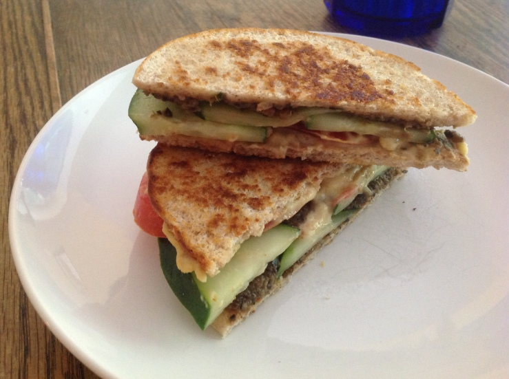 Mediterranean Grilled Sandwich.  Enjoy, seriously.  But only seriously.